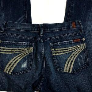 7 FOR ALL MANKIND Dojo Jeans Grommet Flare Leg